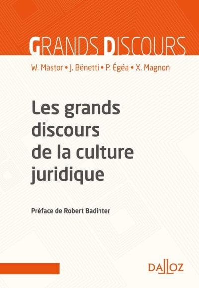 Les grands discours de la culture juridique - 9782247173679 - 32,99 €