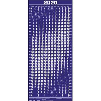 Calendrier Lune 2020.Calendrier Lunaire 2020 Moyen Format