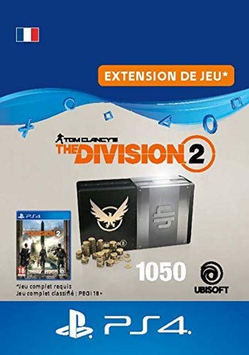 Code de téléchargement Tom Clancy's The Division 2 Pack de 1050 Crédits Premium PS4