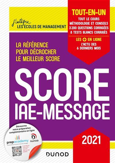 Score IAE-Message - 2021 - Tout-en-un