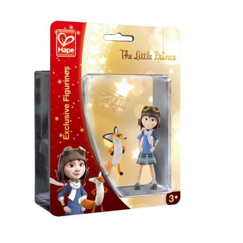 Figurines Le Petit Prince - La petite fille et Le renard Hape