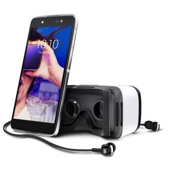 Smartphone Alcatel Idol 4 16 Go Double SIM Argent métalisé + Casque de réalité virtuelle