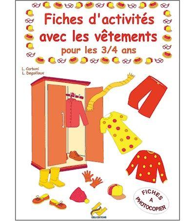 Fiches d'activités avec les vêtements, 3-4 ans