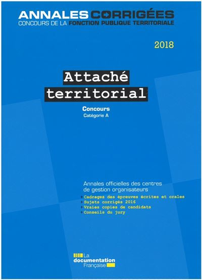 Attaché territorial 2018