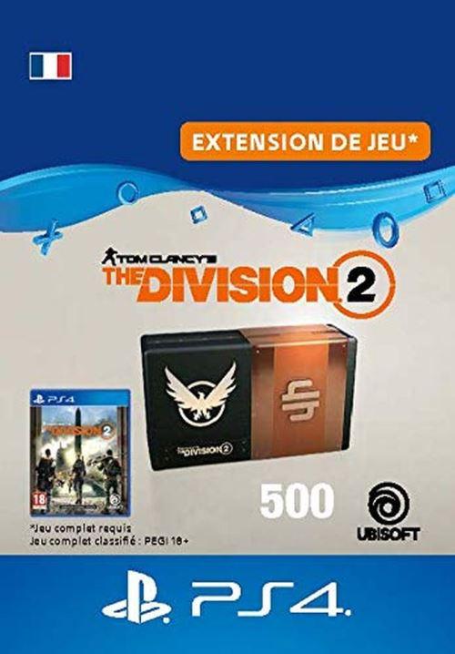 Code de téléchargement Tom Clancy's The Division 2 Pack de 500 Crédits Premium PS4
