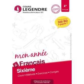 Mon Annee De Francais 6e Cours Methode Exercices Corriges