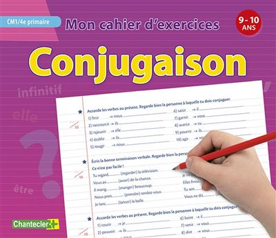 Mon cahier d'exercices Conjugaison CM1, 4ème primaire
