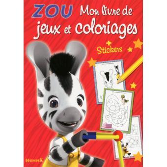 Zou Mon Livre De Jeux Et De Coloriage Zou