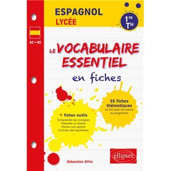 Espagnol Le Vocabulaire Essentiel En Fiches Lycee 1re Et Terminale Toutes Series Lv1 Lv2 A2 B2