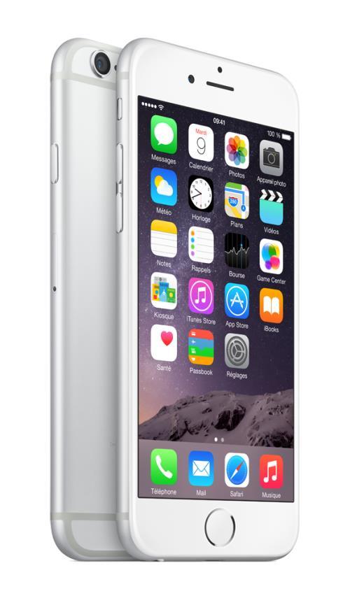 Apple iPhone 6 64 Go 4.7 Argent Reconditionné Grade A sans boîte ni accessoires
