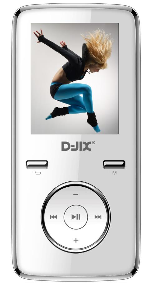 Lecteur MP4 D-Jix M350 1.8 8 Go FM Blanc