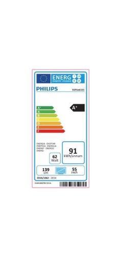 Fiche énergétique de TV Philips 55PUH6101 UHD 4K