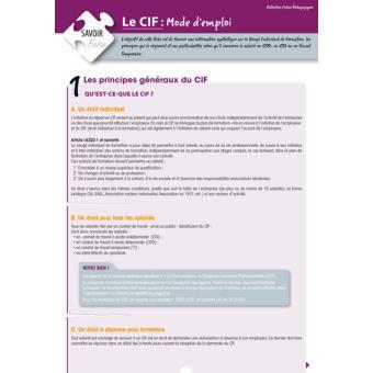Le CIF (congé individuel de formation) - Mode d'emploi