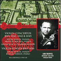 Concertos pour violon  et double Concertos BWV1041-1043