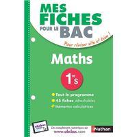 Mes fiches pour le BAC Maths 1re S