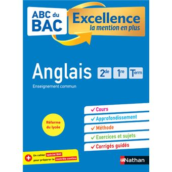 Abc Du Bac Excellence Anglais Seconde 1ere Terminale