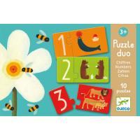 Djeco Puzzle Duo Chiffres 10 x 2 pcs