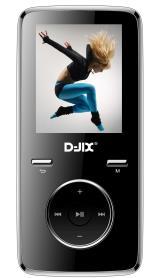 """Lecteur MP4 D-Jix M350 1.8"""" 8 Go FM Noir"""