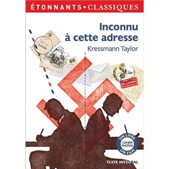 Inconnu à cette adresse - Poche - Kathrine Kressmann Taylor, Michèle  Lévy-Bram - Achat Livre | fnac