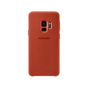 SAMSUNG S9+ ALCANTARA COVER RED
