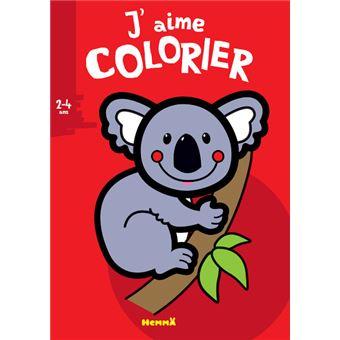 Coloriage Gratuit Koala.J Aime Colorier 2 4 Ans Koala Broche Valerie Pernot Achat