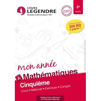 Mon Annee De Mathematiques 5e Cours Methode Exercices Corriges Broche Djamil Guenfoud Achat Livre Fnac