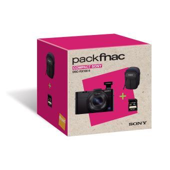 Fnac-pack: compactcamera Sony Cyber-shot DSC-RX100 II zwart + hoes + SD-kaart 8 GB