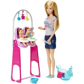 poup e barbie baby sitter poup e achat prix fnac. Black Bedroom Furniture Sets. Home Design Ideas