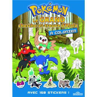 Les PokémonLe grand cherche et trouve d'Alola à colorier