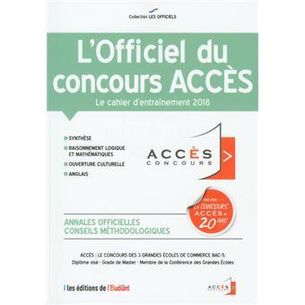 L'officiel du concours Accès 2018