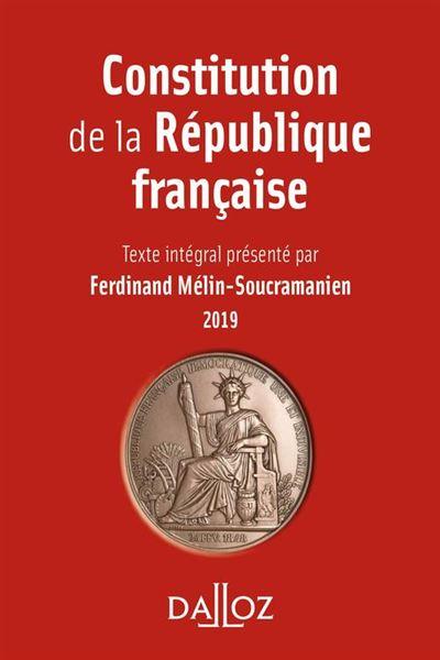 Constitution de la République française. 2019 - 9782247184569 - 2,99 €