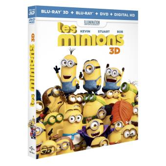 Les minionsLes Minions Combo DVD +  Blu-ray + UV + Blu-ray 3D