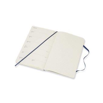 Tr/ès Grand Format 19 x 25 cm Moleskine Couleur Bleu Saphir 208 Pages Agenda Semainier 18 Mois 2019 // 2020