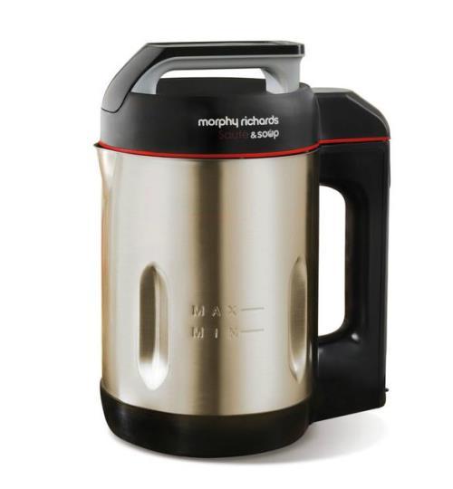 Blender chauffant Morphy Richards Sauté & Soup M501014EE 1000W Argent et Noir