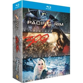 Coffret Action  Pacific Rim, Sucker Punch, 300 Blu-Ray