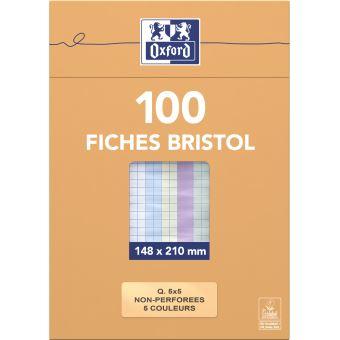 5 sur etui de 100 fiches bristol oxford a5 21x15cm. Black Bedroom Furniture Sets. Home Design Ideas
