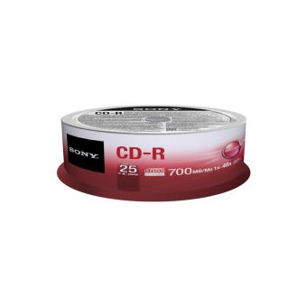 Pack 25 CD-R Sony 25CDQ80SP 700 Mo