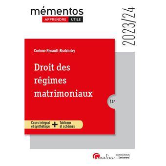 Droit des regimes matrimoniaux 9eme edition