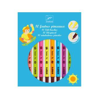 Set de 10 Feutres pinceaux pop Djeco