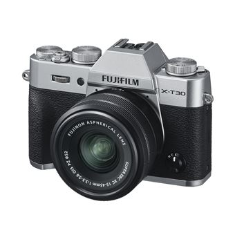 Fujifilm X-T30 Hybride Camera Zilver + Lens XC 15-45mm f/3.5-5.6 + SD-Kaart