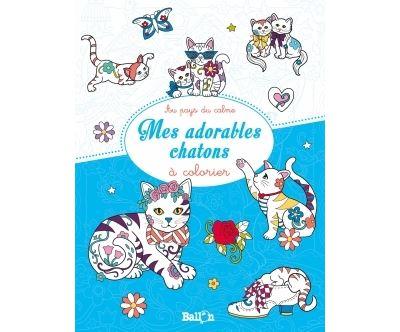 Mes adorables chatons à colorier