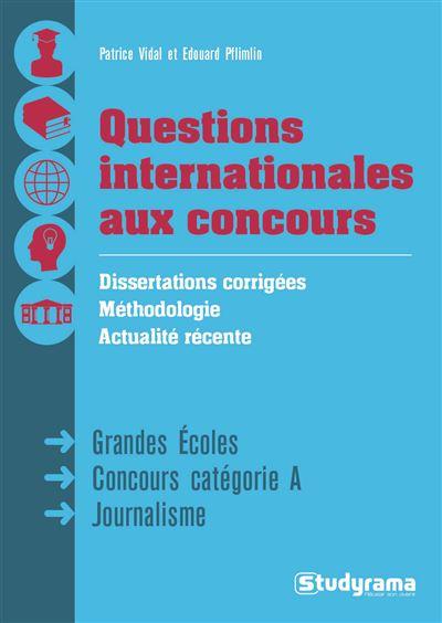 Questions internationales aux concours