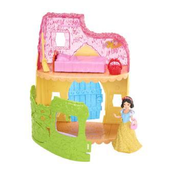 maison de poup e blanche neige disney princesses mattel maison de poup e achat prix fnac. Black Bedroom Furniture Sets. Home Design Ideas