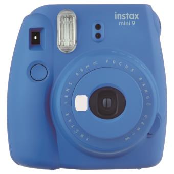 Fujifilm Instax Polaroid Camera Mini 9 Cobalt Blue