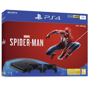 PS4 1TB + SPIDER-MAN + EXTRA DS