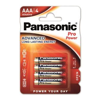 Pack de 4 piles Panasonic Pro Power AAA-LR03