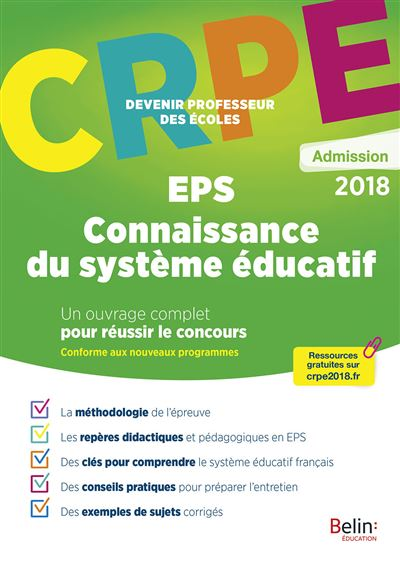 Crpe admission eps/systeme educatif
