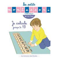 Montessori - je calcule jusqu'a 19
