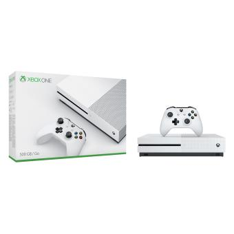 console microsoft xbox one s 500 go blanche console de. Black Bedroom Furniture Sets. Home Design Ideas