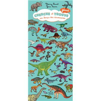 Cherche Et Trouve Geant Au Temps Des Dinosaures